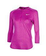 bluza tenisowa damska NIKE TOP BASELINE 3/4 PRINT / 852701-584