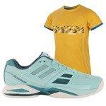 buty tenisowe damskie BABOLAT PROPULSE TEAM + koszulka BABOLAT / 31S16447-136