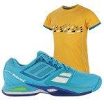 buty tenisowe męskie BABOLAT PROPULSE TEAM + koszulka BABOLAT / 30S16442-136