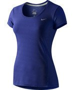 koszulka do biegania damska NIKE DRI-FIT CONTOUR SHORT SLEEVE / 644694-455