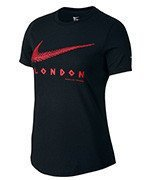 koszulka do biegania damska NIKE RUN ICON LONDON MARATHON TEE / 802319-010