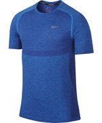 koszulka do biegania męska NIKE DRI-FIT KNIT SHORT SLEEVE / 717758-458