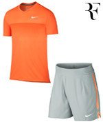 koszulka i spodenki tenisowe męskie NIKE Roger Federer Indian Wells 2015