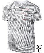 koszulka tenisowa męska NIKE RF TEE ALLOVER PRINTED / 831466-100
