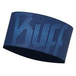 opaska do biegania BUFF HEADBAND BUFF DEEP LOGO DARK NAVY / 113652.790.10
