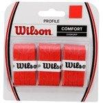 owijki tenisowe WILSON PROFILE OVERGRIP COMFORT x3 / WRZ4025 RD