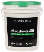 piłki tenisowe YONEX MUSCLE POWER 40 STAGE1 x 60 SZT. WIADRO / TPY-006