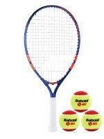 rakieta tenisowa juniorska BABOLAT ROLAND GARROS 21+3 piłki BABOLAT RED / 151034, 190012-209