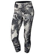 spodnie do biegania damskie 3/4 NIKE POWER  ESSENTIAL CROP PRINT TIGHT / 848002-010