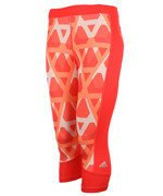 spodnie sportowe damskie 3/4 ADIDAS TECHFIT CAPRI PRINT 1 / AJ2271