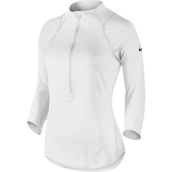 bluza tenisowa damska NIKE BASELINE 1/2 ZIP TOP / 546075-102