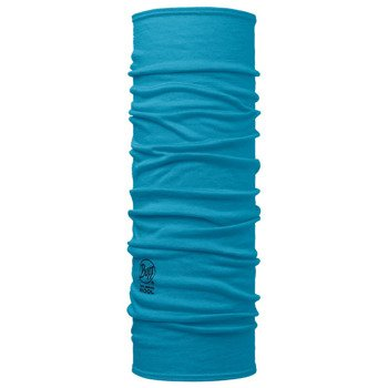 chusta do biegania BUFF MERINO WOOL BUFF SOLID BLUE CAPRI / 113010.718.10