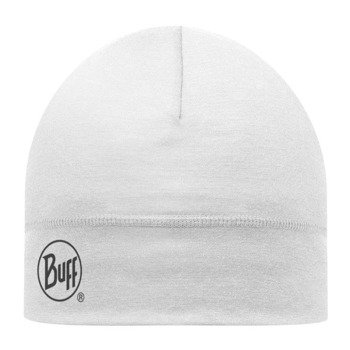 czapka do biegania BUFF MERINO WOOL HAT BUFF SOLID SNOW / 111162.015.10