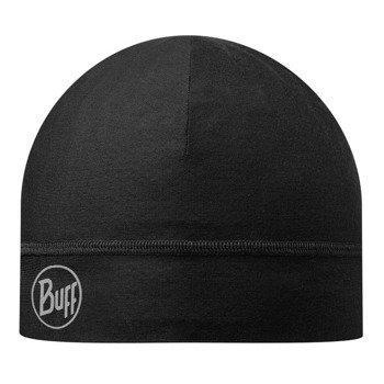 czapka do biegania BUFF MICROFIBER 1 LAYER HAT BUFF SOLID BLACK / 108902.999.10