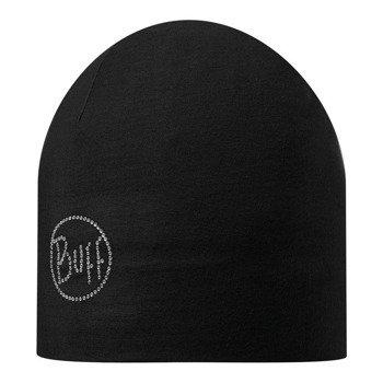czapka do biegania BUFF MICROFIBER 2 LAYERS HAT BUFF OLID CHIC BLACK / 108930.999.10