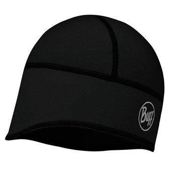 czapka do biegania BUFF WINDPROOF TECH FLEECE HAT BUFF SOLID BLACK / 113388.999.10
