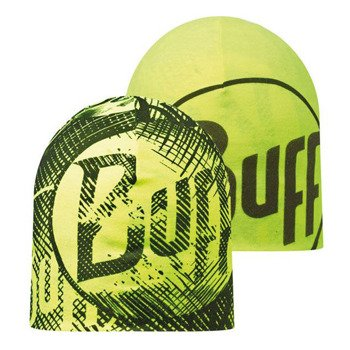 czapka dwustronna do biegania BUFF MICROFIBER REVERSIBLE HAT BUFF LOG US / 108918.999.10