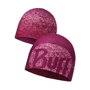 czapka dwustronna do biegania BUFF MICROFIBER REVERSIBLE HAT BUFF YENTA PINK / 113161.538.10