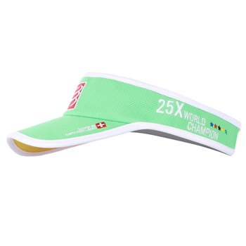 daszek biegowy COMPRESSPORT VISOR CAP GREEN CHINA ORIGIN 25XWORLD CHAMPION / RACS-0025