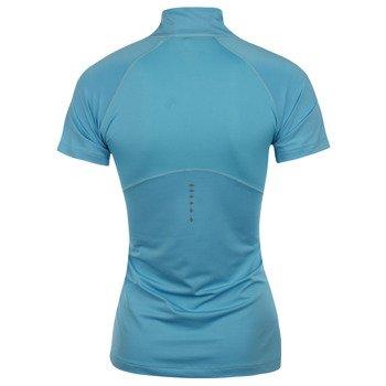 koszulka do biegania damska ASICS SHORTSLEEVE 1/2 ZIP TOP / 121609-0815