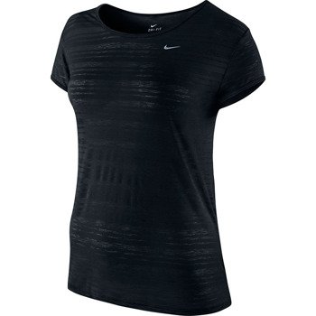 koszulka do biegania damska NIKE DF TOUCH BREEZE STRIPE SHORTSLEEVE / 589044-010