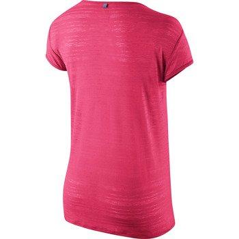 koszulka do biegania damska NIKE DRI FIT TOUCH BREEZE STRIPE SHORTSLEEVE / 589044-639