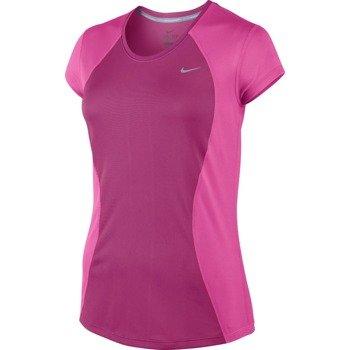 koszulka do biegania damska NIKE RACER SHORT SLEEVE / 645443-616