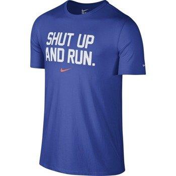 koszulka do biegania męska NIKE DRI-FIT BLEND SHUT UP / 683053-480