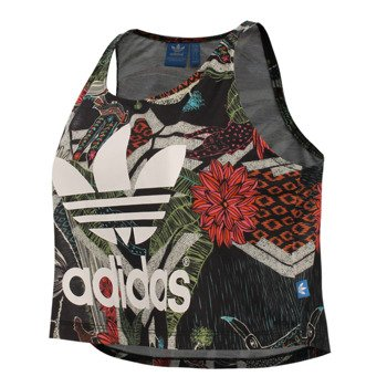 koszulka sportowa damska ADIDAS XILOFLORESTA CROPPED LOGO TANK / S19325