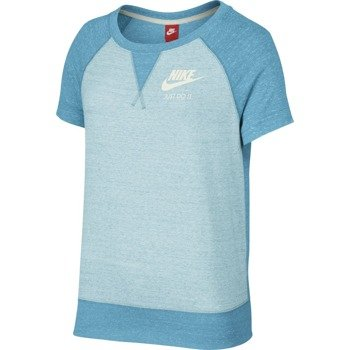koszulka sportowa damska NIKE GYM VINTAGE TOP SHORT SLEEVE / 728234-418