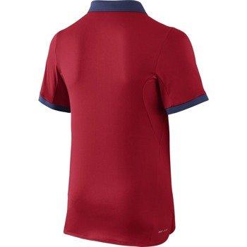 koszulka tenisowa chłopięca NIKE ADVANTAGE SOLID POLO  / 724435-657