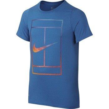 koszulka tenisowa chłopięca NIKE IRRIDESCENT COURT TEE / 832331-446
