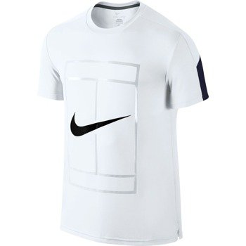 koszulka tenisowa męska NIKE COURT GRAPHIC CREW / 729262-100