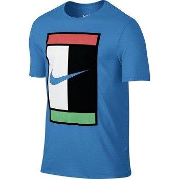 koszulka tenisowa męska NIKE COURT LOGO CREW / 739479-435