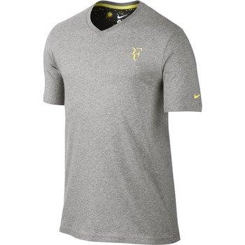 koszulka tenisowa męska NIKE RF ORGANIC COTTON V-NECK TEE Roger Federer / 611763-063