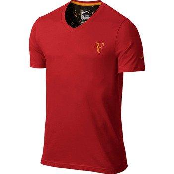 koszulka tenisowa męska NIKE RF ORGANIC COTTON V-NECK TEE Roger Federer / 611763-602