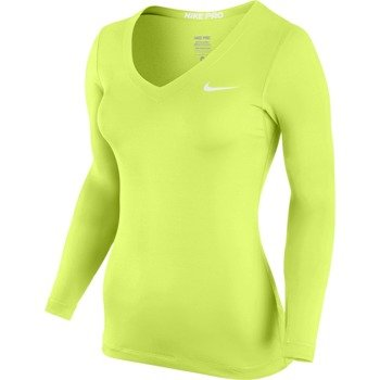 koszulka termoaktywna damska NIKE PRO LONGSLEEVE V-NECK / 589368-702