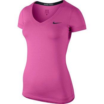 koszulka termoaktywna damska NIKE PRO SHORTSLEEVE V-NECK / 589370-670