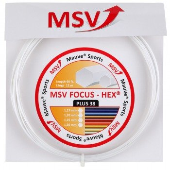 naciąg tenisowy MSV FOCUS HEX PLUS 38 12M White