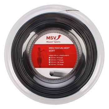 naciąg tenisowy MSV FOCUS HEX SOFT 200M BLACK