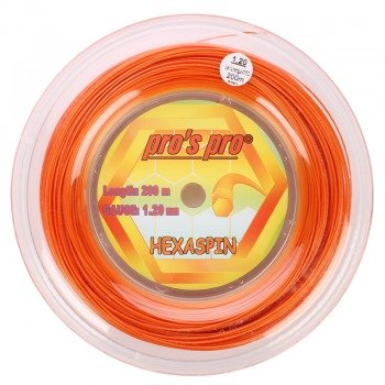 naciąg tenisowy PRO'S PRO HEXASPIN 200m orange