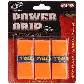owijki tenisowe TOALSON POWER GRIP x 3 orange
