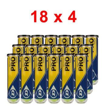 piłki tenisowe DUNLOP PRO TOUR - 18 x 4SZT karton / TPD-059