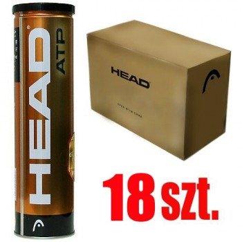 piłki tenisowe HEAD ATP GOLD x4  (karton / 18 puszek)