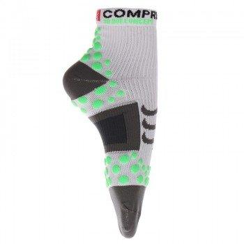 skarpety kompresyjne COMPRESSPORT RUN PRO RACING SOCKS 3D.DOT HIGH-CUT (1 para) / RSH WHITE-GREEN 11319-204