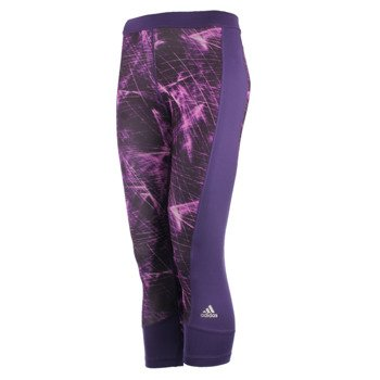 spodnie sportowe damskie 3/4 ADIDAS TECHFIT CAPRI PRINTED / AY4324