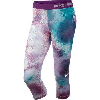spodnie sportowe damskie 3/4 NIKE PRO SPLATTER CAPRI / 630608-519