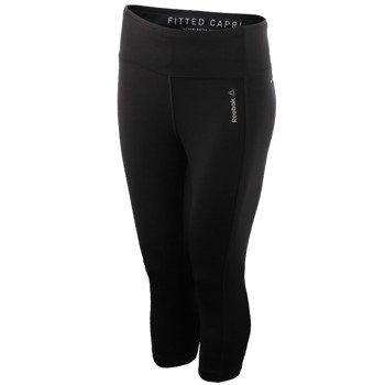 spodnie sportowe damskie 3/4 REEBOK WOROUT READY CAPRI / AJ3308