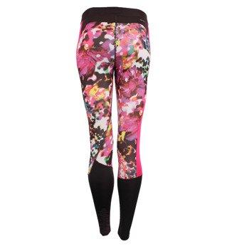 spodnie sportowe damskie ADIDAS TECHFIT FLORAL LONG TIGHT PRINT / AJ0537