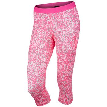spodnie tenisowe damskie 3/4 NIKE SLAM PRINTED CAPRI / 646194-667